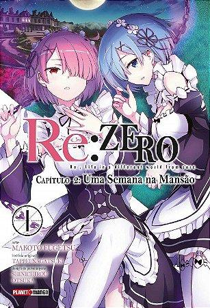 Re: Zero - Capítulo 02 : Uma Semana Na Mansão - Volume 01 (Item novo e lacrado)