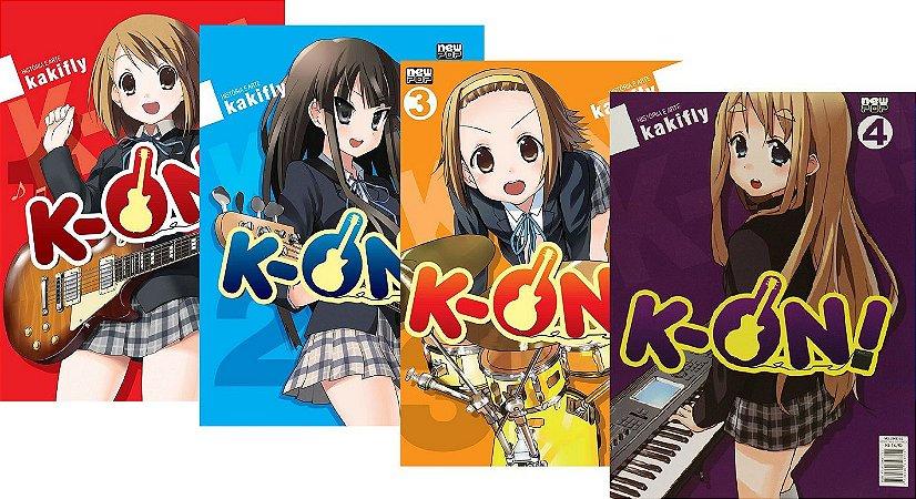 K-ON ! - Volumes 01, 02, 03 e 04 (Itens novos e lacrados)
