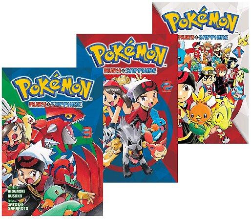 Pokémon Ruby & Sapphire - Volumes 01, 02 e 03 (Itens novos e lacrados)