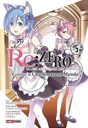 Re:Zero - Capítulo 02 : Uma Semana Na Mansão - Volume 05 (Item novo e lacrado)