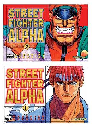 Street Fighter Alpha [Completo] - Volumes 01 e 02 (Item novo e lacrado)