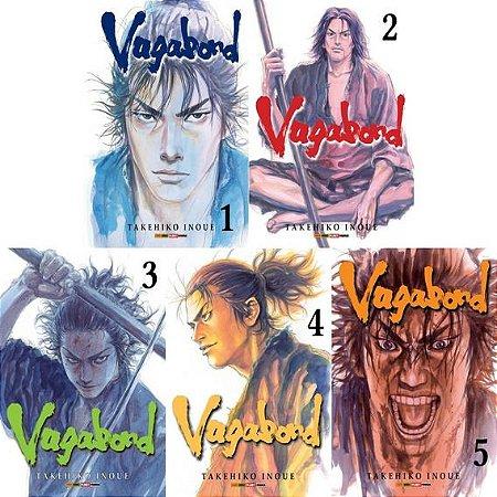 Vagabond - Volumes 01 ao 05 - (Itens novos e lacrados)