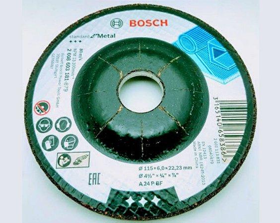 DISCO BOSCH DESBASTE METAIS 115MM G24