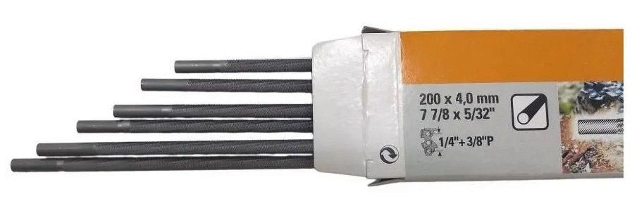 Lima Redonda Stihl 4,0mm 5/32 P/ Motosserra - Caixa C/ 6 Un