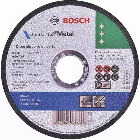 DISCO DE CORTE 115 MM X 1,0 MM STANDARD METAL BOSCH