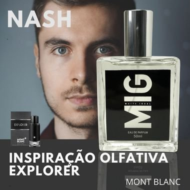 Perfume Nash Inspirado no Explorer Mont Blanc 50ml