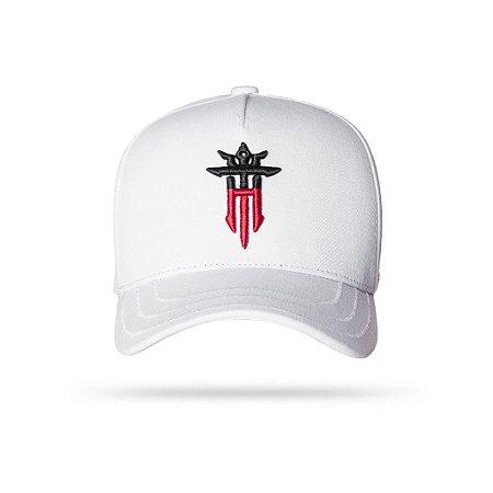CAP HALF WHITE RED