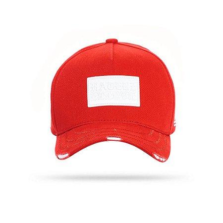 CAP LABEL RED