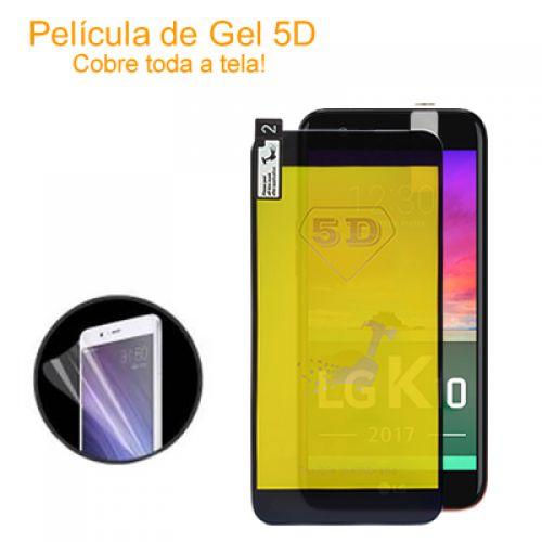 Película de gel 5D Nano flexível para LG k10 2017 cobre a tela toda com kit limpeza