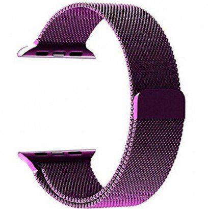 Pulseira Estilo Milanês Magnética Para Apple Watch 38/40mm - Roxo