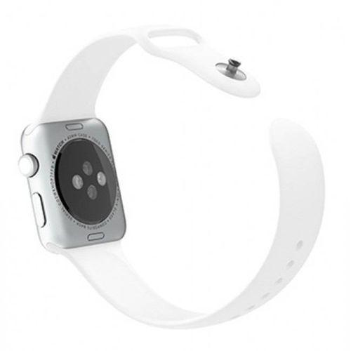 Pulseira De Silicone Sport para Apple Watch 42/44mm - Branco Neve