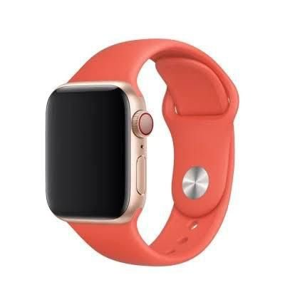 Pulseira De Silicone Sport para Apple Watch 42/44mm - Laranja Claro
