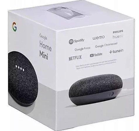 Assistente Pessoal Google Home Mini Caixa De Som Wi-fi + Brinde Surpresa