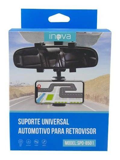 Suporte Veicular Universal Para Retrovisor Inova Spo-8501 (Cor Preto)