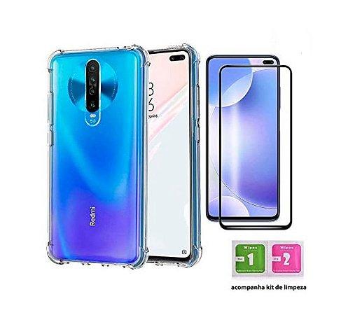 Capa Case Anti Impacto Para Xiaomi Mi 10T / Redmi K30 + Película Nano Gel 5D Blindada