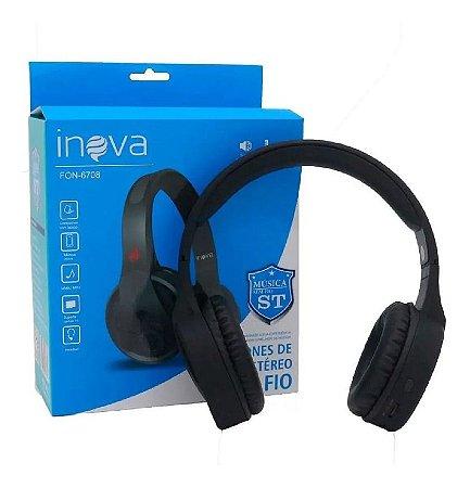 Fone De Ouvido Bluetooth Sem Fio Inova Fon-6708 (Cor Preto)