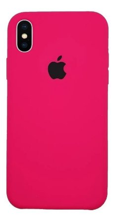 CAPA CASE CAPINHA SILICONE AVELUDADA IPHONE XR (COR ROSA PINK)