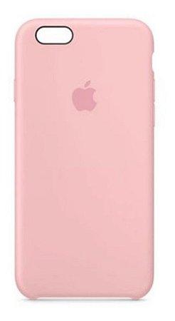 Capa Case Capinha Silicone Aveludada iPhone 6s (cor Rosa)