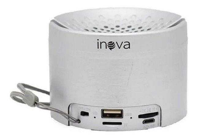 Caixinha De Som Portátil Sem Fio Bluetooth Inova RAD-B5324 (Prata)