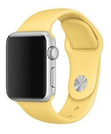 Pulseira Esportiva Caixa 38mm Apple Watch Series 1 2 3 Sport Silicone (Amarelo)