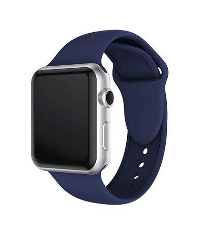 Pulseira Esportiva Caixa 38mm Apple Watch Series 1 2 3 Sport Silicone (Azul-marinho)
