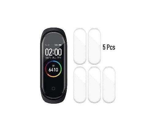 Kit 5 Películas Protetora de Silicone para Xiaomi Mi Band 4