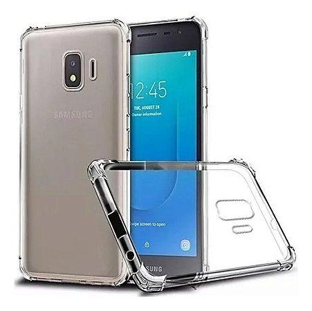 Capa Anti Shock com Bordas Para Samsung Galaxy J2 Core Transparente