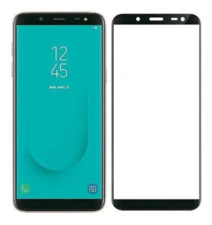 Pelicula De Vidro 3D Para Samsung Galaxy J8 2018 Bordas Pretas