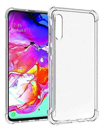 Capa Anti Shock Transparente + Pelicula Vidro 3D Samsung Galaxy A70 2019