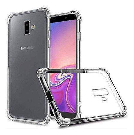 Capa Anti Shock Transparente + Pelicula de Vidro 3D Samsung Galaxy J6 Plus