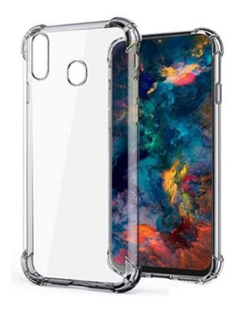 Capa Antishock Transparente + Pelicula De Gel 5D Samsung Galaxy M20