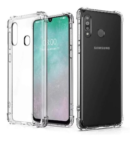 Capa Anti Shock Transparente + Pelicula De Vidro 3D Samsung Galaxy M30 2019
