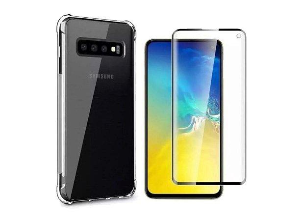 Capa Anti Shock Transparente + Pelicula De Gel 5D Samsung Galaxy S10e