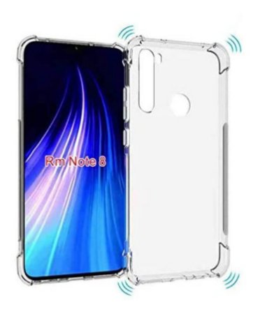 Capa Anti Shock Transparente Para Xiaomi Redmi Note 8 Bordas Reforçadas
