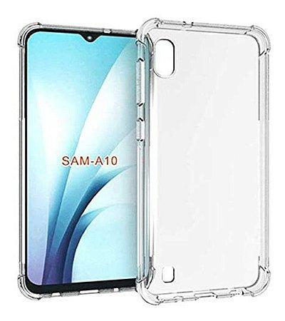 Capa Anti Shock Transparente  + Pelicula De Vidro 3D Samsung Galaxy A10 2019