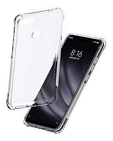 Capa Anti Shock Transparente + Pelicula Nano Gel 5d Xiaomi Mi 8 Lite