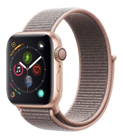 Pulseira Rosa Apple Watch 38mm 40mm Nylon Loop Velcro para Watch Series 1, 2, 3, 4
