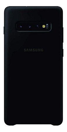 Capa Protetora de Silicone Preta Samsung Galaxy S10 Plus