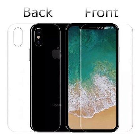 Kit Película Silicone Frente + Verso Curvada iPhone Xs Max (6,5 Polegadas)
