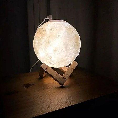 Umidificador de Lua Cheia 3D Ultrassônico Usb Difusor De Aroma