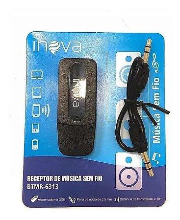 Receptor de Música Bluetooth Usb Wireless Adaptador sem Fio Inova BTMR-6313