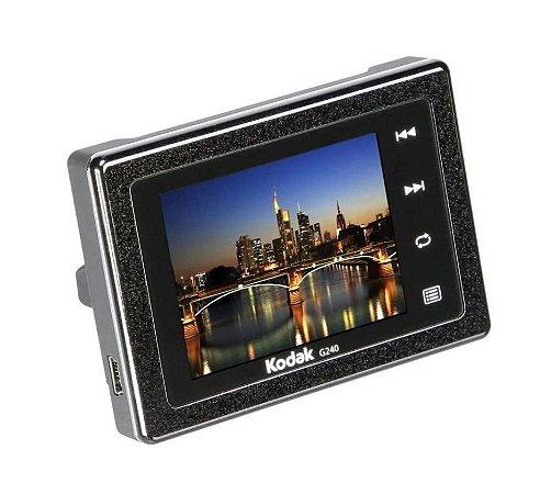 Porta Retratos Digital portátil Kodak com LCD de 2,4 polegadas e Relógio
