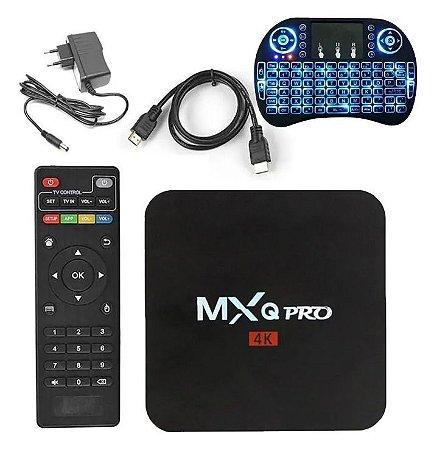 Conversor Smart Tv Box 4k Wi-fi Android 10 Hdmi 5G + Mini Teclado