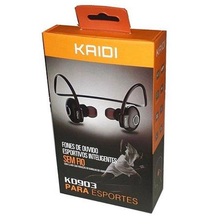 Fone de Ouvido Bluetooth Esportivo Inteligente Kaidi Kd-903