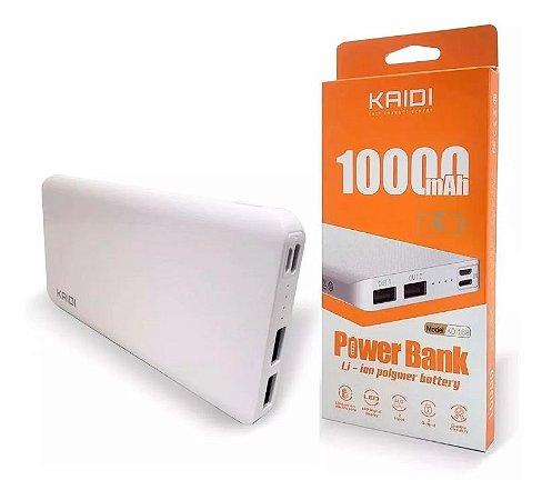Carregador Portátil Power Bank Turbo 10.000mah Kaidi Kd-168