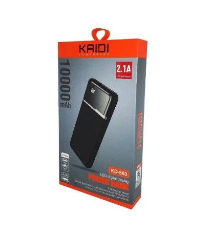 CARREGADOR PORTÁTIL POWER BANK 10.000MAH KAIDI KD-563 COM VISOR DIGITAL