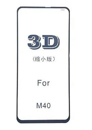 PELÍCULA DE VIDRO 3D PARA SAMSUNG GALAXY M40 BORDAS PRETAS