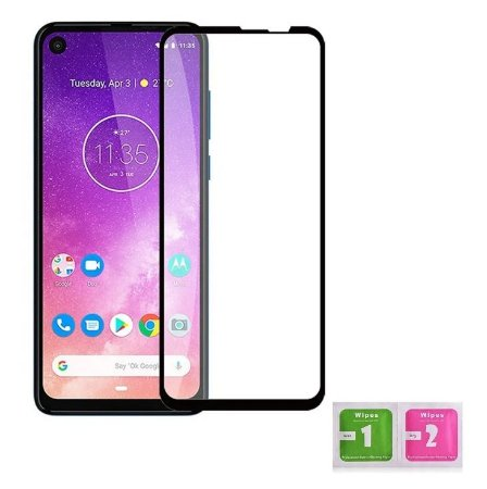 PELÍCULA DE NANO GEL 5D PARA MOTOROLA ONE ACTION BORDAS PRETAS