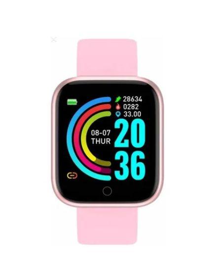 Relógio Smartwatch Inteligente D20 Rose  Esportivo Compatível Android e IOS