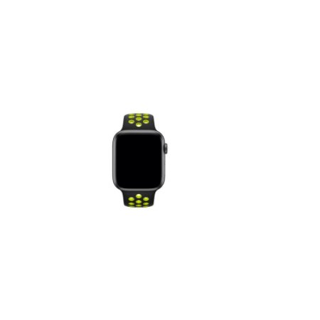 Pulseira Apple Watch de Silicone Esportiva Preta com Verde Neon 38 MM